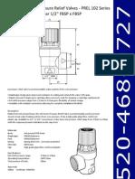 Pressure Relief Valve 102 Series 3.5 Bar 1-2Inch FBSP x FBSP