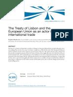 El tratado de Lisboa como actor en comercio internacional (Es)/ The Treaty of Lisbon as an actor in international trade (Spanish)/ Lisboako trataua, merkataritza internazionalaren aktore (Es)
