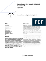 Extraction and HPLC Analysis of Alkaloids