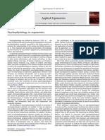 Psycho Physiology in Ergonomics
