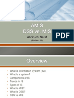 DSS vs. MIS by abhiruchi