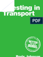Boris Johnson 2012 Transport Manifesto Final