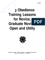 Dog Obedience Training Lessons for Novice,Graduate Novice,Open and Utility