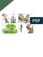 Pictures to Make Sentences Board Regular Verbs
