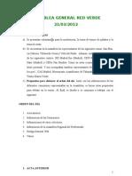 Acta Asamblea General de Red Verde 21 de Marzo