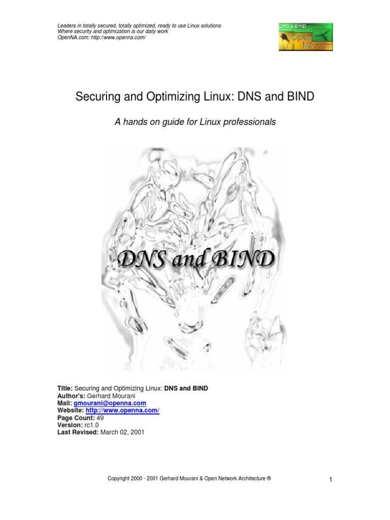 Securing Optimizing Linux DNS BIND Rc1 0 | Directories