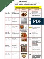 Calendário Abril 2012