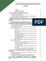 Evaluarea managementului datoriei publice guvernamentale privind perioada 2000 – 2009