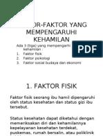 Faktor-faktor Yang Mempengaruhi Kehamilan