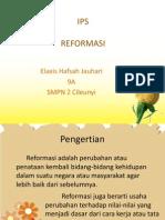 Ilmu Pengetahuan Sosial - Reformasi