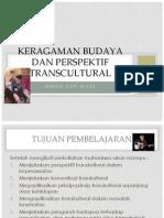 Keragaman Budaya Dan Perspektif Trans Cultural