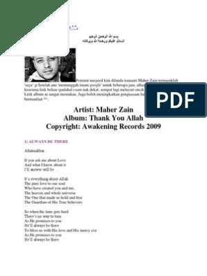 Artist: Maher Zain Album: Thank You Allah