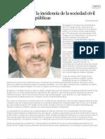 Testigo social y la incidencia de la sociedad civil en las políticas públicas - Dr. José Sosa