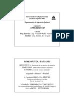 Segunda Clase Integracion II 2012 - Unidades y Dimensiones - Ing. Quimica