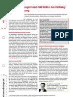 Wissensblitz 63 Wissensmanagement Wikis Gestaltung