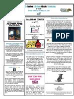 Newsletter 3-23-2012