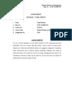 Assignment - Human Resources Management