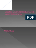 Missing Value for Eliminated Value Estimation