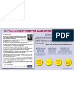 Maryland State Senator David Brinkley's Direct Mail Piece Highlighting Endorsements