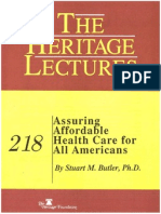 1989 Assuring Affordable Health Care for All Americans
