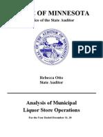 Minn. 2010 Municipal Liquor Store Report