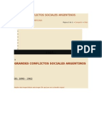 Grandes Conflictos Sociales Argentinos