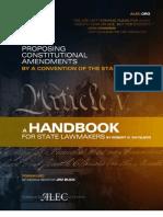 ALEC Article V Handbook - Or, How to Do a Con/Con
