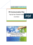 PR Plan Sample