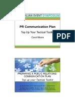 pr plan example