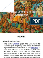 Cultural Aspects of the Continent