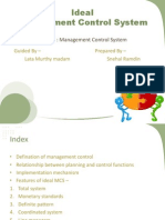 Ideal Management Control System]