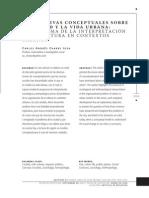 Perspectivas Conceptuales Sobre La Ciudad y La Vida en Ciencias Sociales