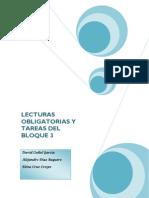 Lecturas Obligatorias y Tareas Del Bloque 3