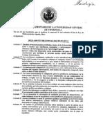 Reglamento de normas disciplinarias (Consejo Universitario UCV)