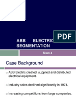 ABB Electric Segmentation Case TEAM 4