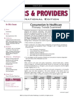 Payers & Providers National Edition – Issue of March 2012