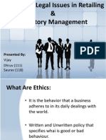 Ethical and Legal Issues in Retailing