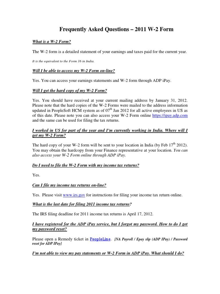 w2 form access  FAQ-W7 | Déclaration de revenus (États-Unis) | Politique ...