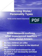 Learning Styles Personality Types