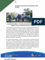 Resumen Informativo de la Mision Europea, Compymep y Pymes Peru Rtv Callejon de Huaylas Marzo 2012