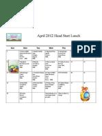 April Head Start Lunch 2012
