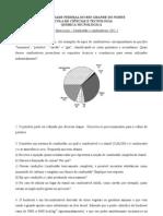 Lista exercícios combustão e combustíveis - 2011.2