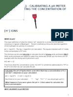 Calibrate a Ph Meter