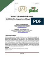 Sark7 Scott Mongeau Merger SABMiller Grolsch