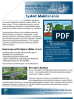 Lake George Septic System Maintnance Flyer