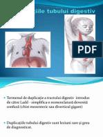Duplicaţiile tubului digestiv