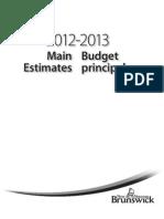 NB Main Budget 2012-13