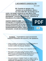 Historia Del Movimiento Sindical en Bolivia