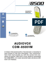 Manual Vm8500avkitbwn
