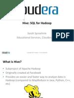 Hive SQL - Sproehnle_bbuzz2010